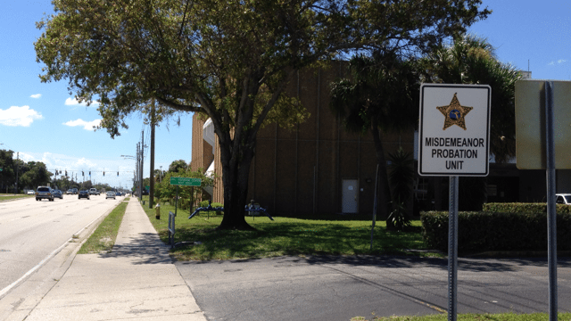 Pinellas Misdemeanor Probation Unit Southbound Sign