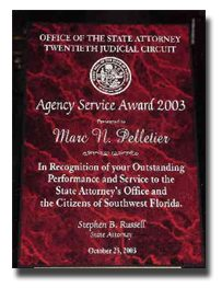 Marc Pelletier received the Agency Service Award in 2003.